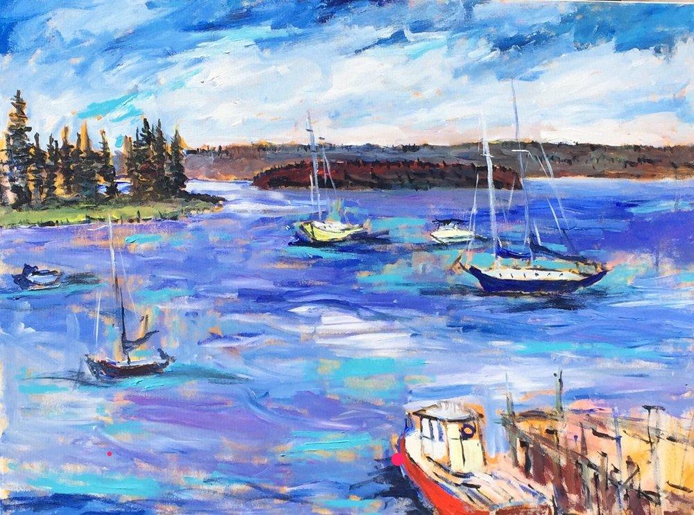 Harbour Sailboats, Ed Coleman
