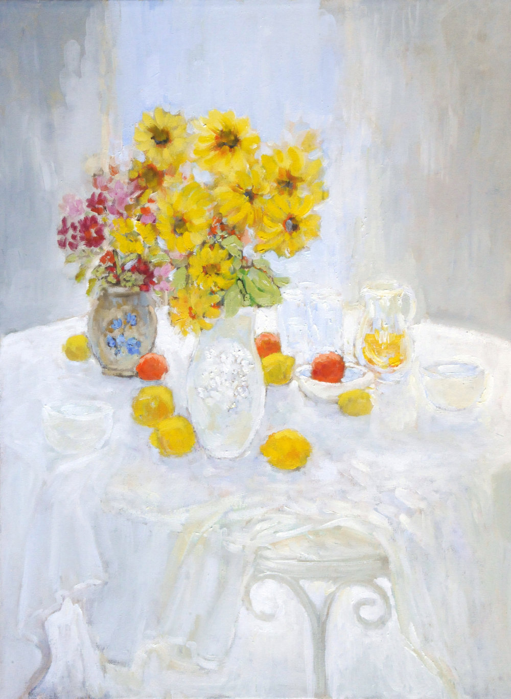 Still life with sunflowers,Michael Khoury