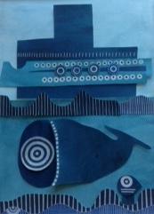 blue world, swim, swim, swim,Mary Collier Fleet