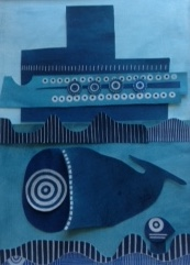 blue world, swim, swim, swim, Mary Collier Fleet