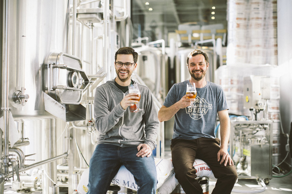 OUR BREWERS: Mike Williams (Asst. Brewer) & Tommy Kreamer (Head Brewer)