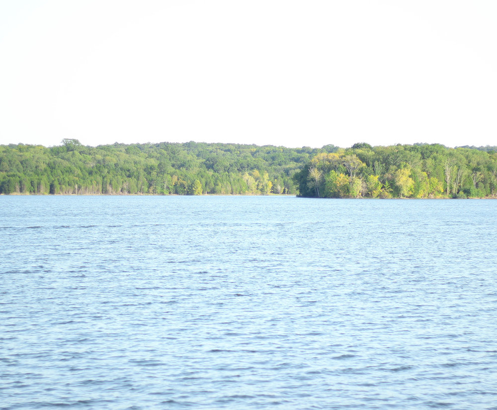 Quiet day on the lake.