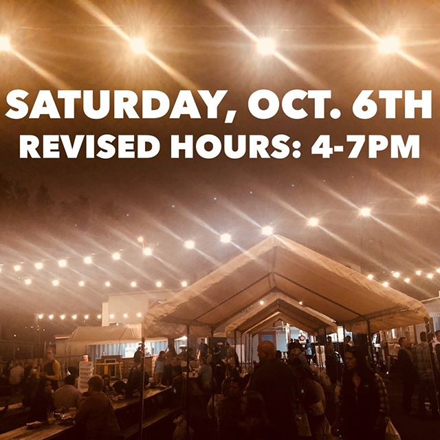 We have revised hours for Saturday, October 6th. We will open at 4 pm. Join us for dinner with Chameleon Concessions & The Coop Chicken and Waffles! Plus beers from East End Brewing. #yummy #foodtrucks