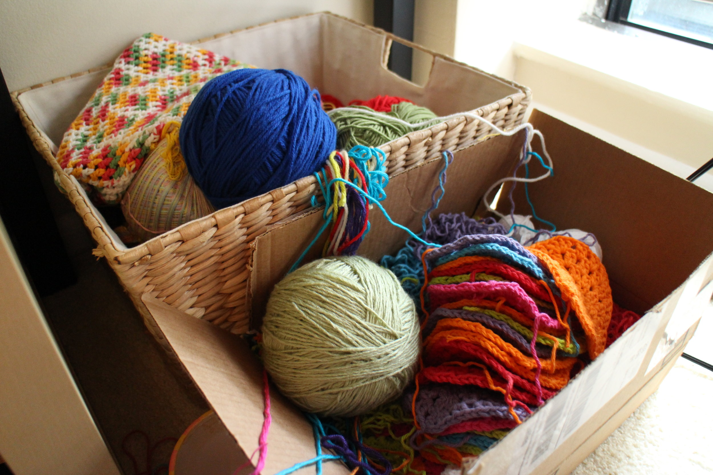 Overflowing Craft Basket