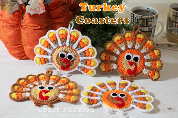 Turkey Coaster by Craft Passion