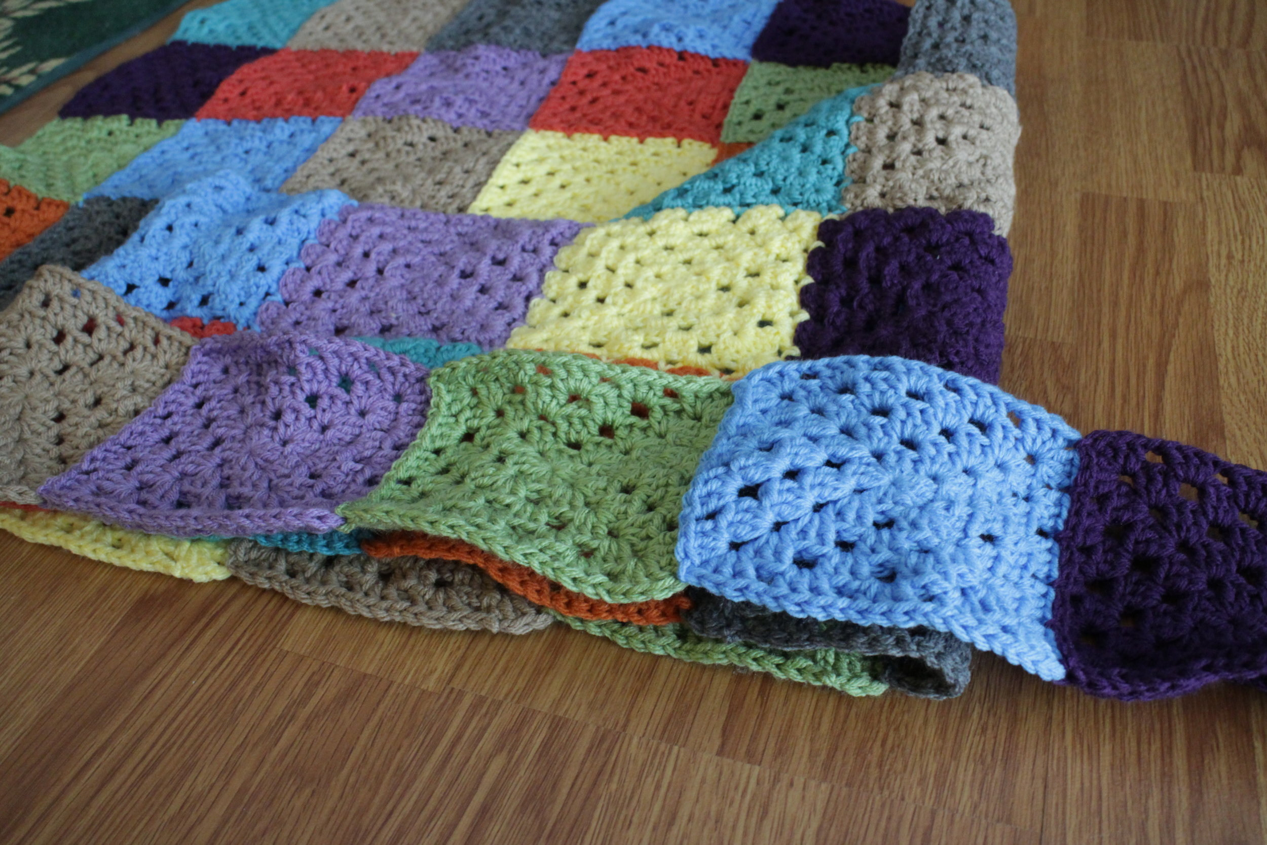 A Square A Day Blanket - Color Me Reckless
