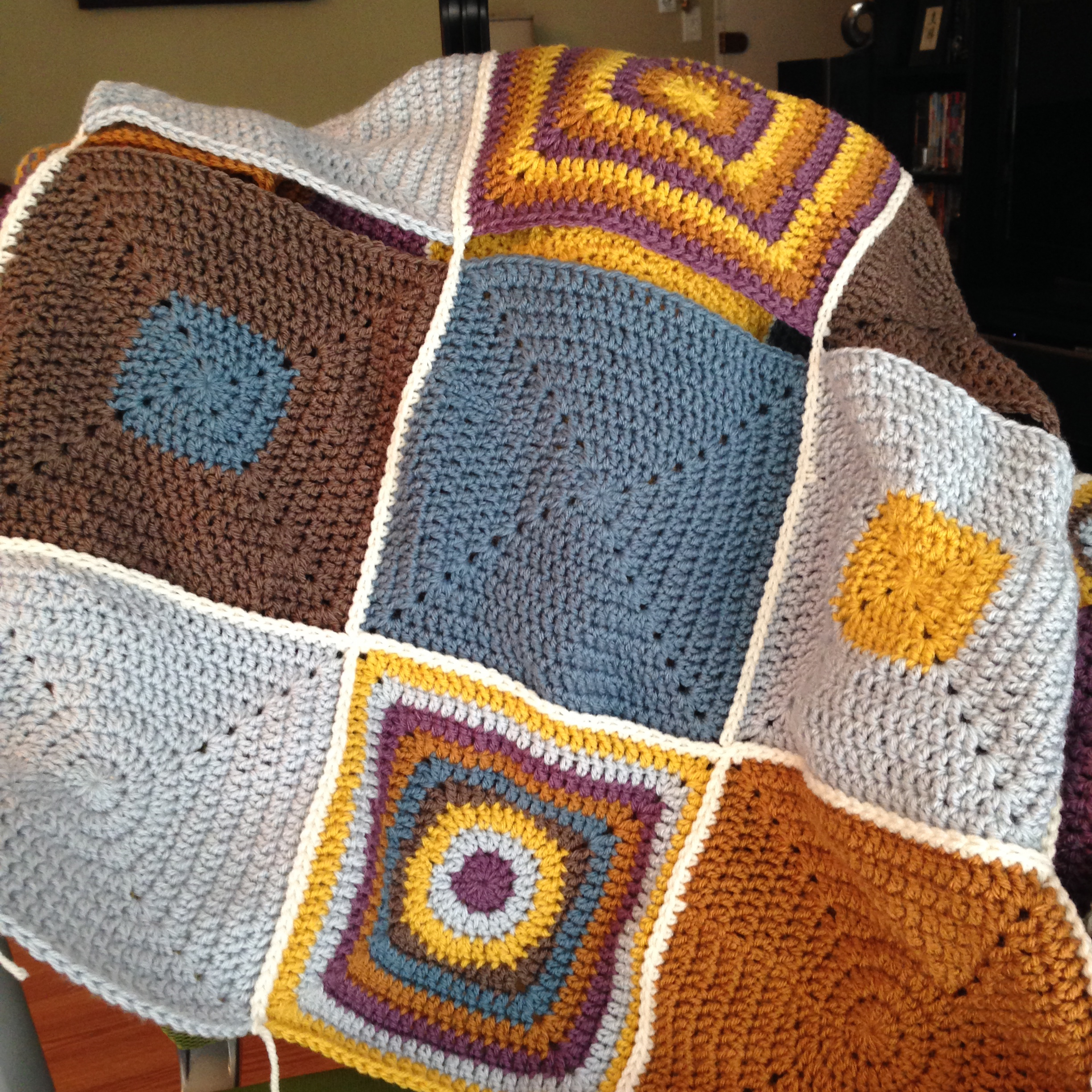 Funky Square Blanket - Color Me Reckless
