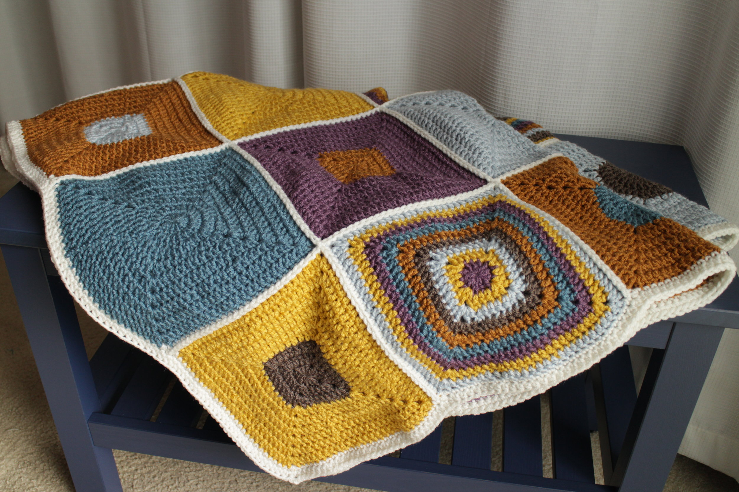 Hip to be Square Blanket - Color Me Reckless