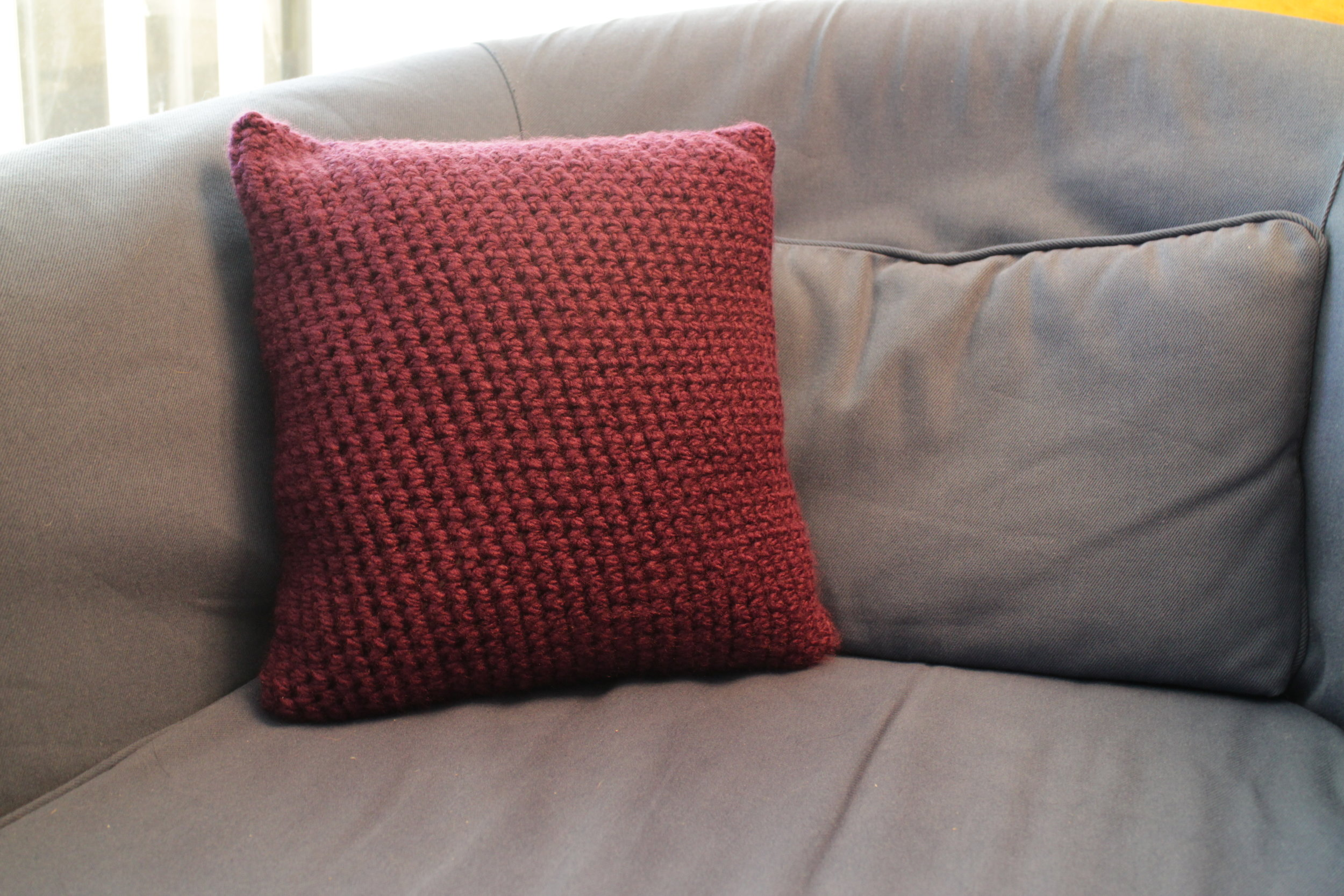 Dark Purple Pillow | Color Me Reckless