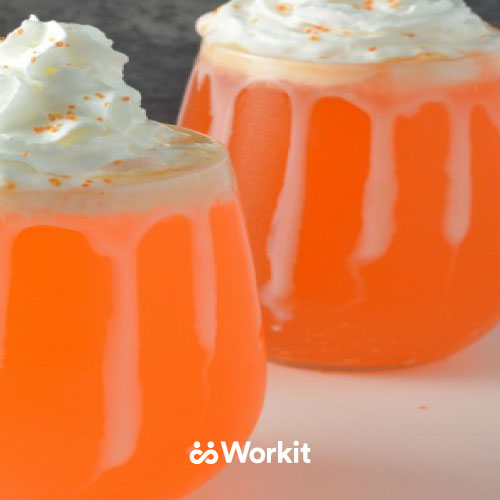 orange cream soda drink with topped with whipped cream