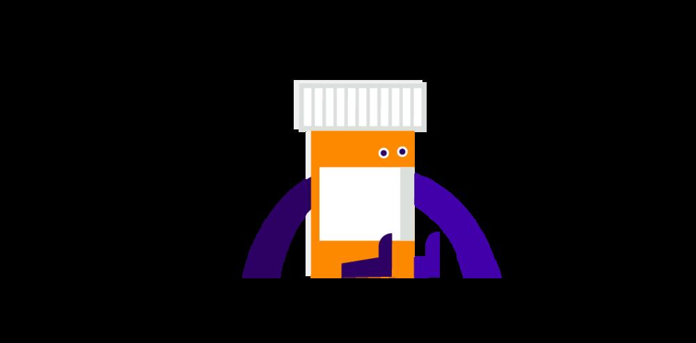 Pill bottle illustration