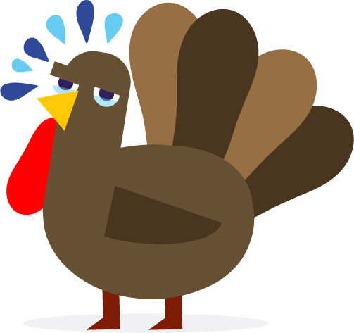 crying turkey illustration