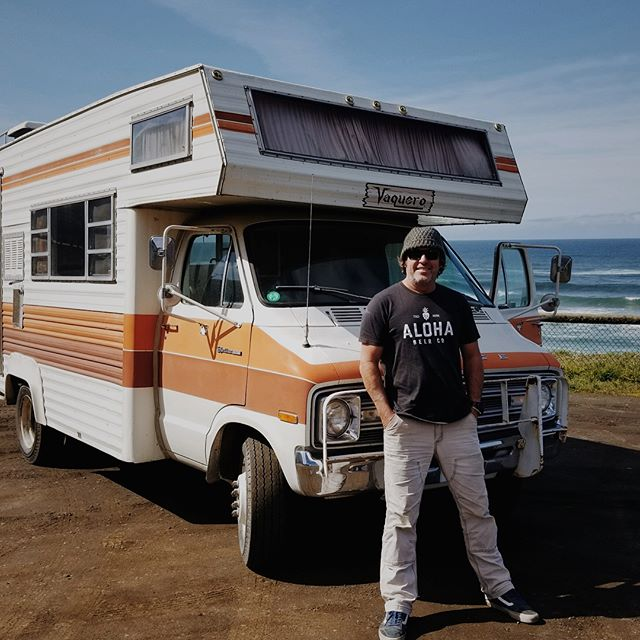"In true Dave Campbell fashion, with his affinity for obscure vehicles and vintage kitsch, he's spending spring break transporting his most recent acquisition from California to Portland. Introducing the ""Vaquero,"" complete with original Jesus portrait and orange shag interior."