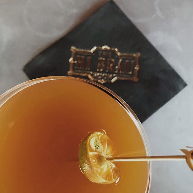 @thehibrauroom is now open on Wednesdays from 6:30 to 10:30 pm. Tonight @thelordflores will be unveiling our new HI Brau cocktail menu. Swing by and sip on a few while enjoying live gypsy jazz by the Hot Club of Hulaville. Photo by @crysmy