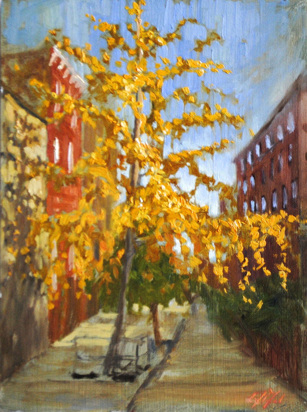 W-NITC-Village Gingko-Dalrymple-12x16-oil on canvas-2011-SOLD.jpg
