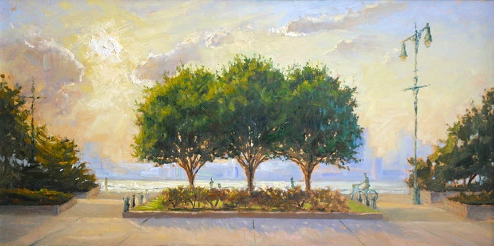 5.Three Trees In Pano 18 x 36, oil on canvas 2.jpg