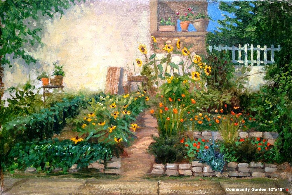 W-NITC-Community Garden-Dalrymple-12x18-oil on canvas-2012-SOLD.jpg