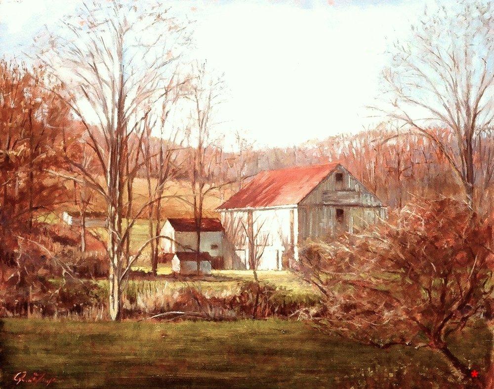 White Barn Through Branches .jpg