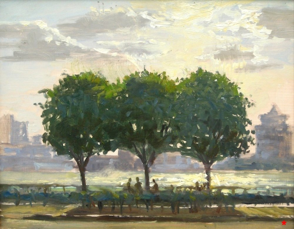 W-NITC-Three Trees Sketch-Dalrymple-11x14-oil on panel-2007-SOLD.jpg