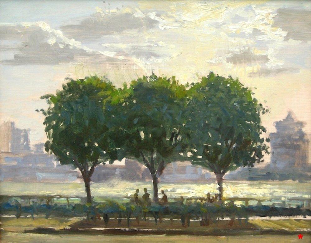 W-NITC-Three Trees Sketch-Dalrymple-11x14-oil on panel-2007-SOLD.jpg