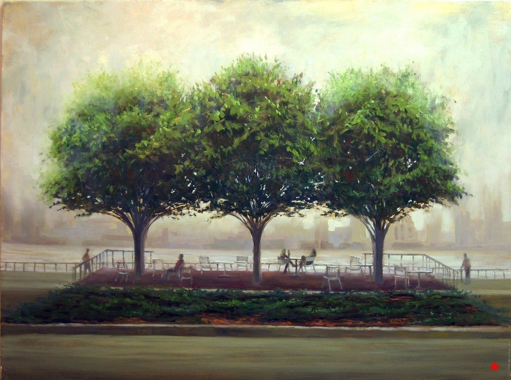 W-NITC-Three Trees In Fog-Dalrymple- 30x40, oil on canvas (2009) SOLD.jpg