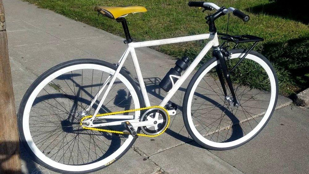 White Fixie XS - Single Speed/Fixed Gear - $350