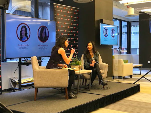 Jessica Lessin and Meredith Levien at The Information's Media Business Bootcamp.