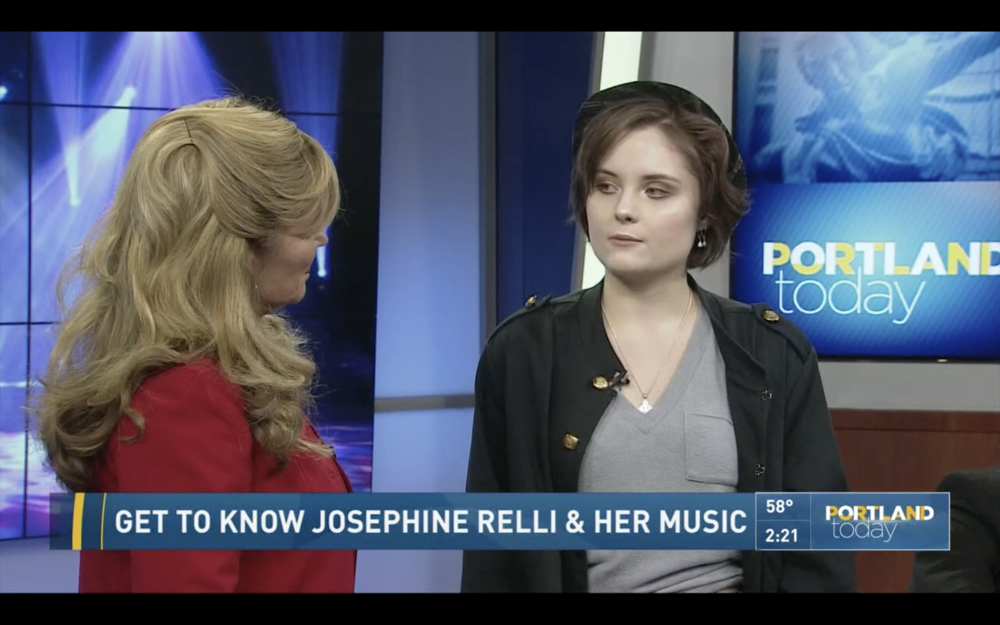 Josephine on Portland Today - Josephine was featured on KGW8, Portland Today talking about her new, upcoming music