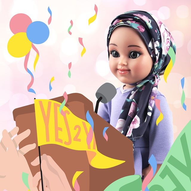 Yasmina rocking the room! Order your very own Yasmina doll today to read her story and discover what her speech was about... Click link in bio 💝