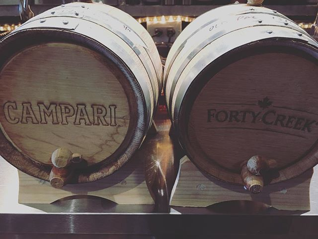 It's #wednesday so we bottle up another small lot of our Solera Barrel Aged #oldpal featuring @wearefortycreek, @cinzano.official Dry & @campariofficial. Get it while it lasts. #liquiddining #yyjcocktails #yyjdrinks #forthewin #ftwbar #drinks #cocktails