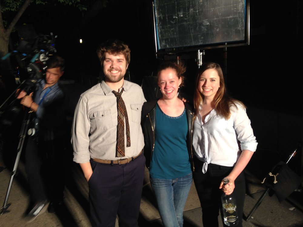 Trace, Alyssa, and I on the set of  Misha.