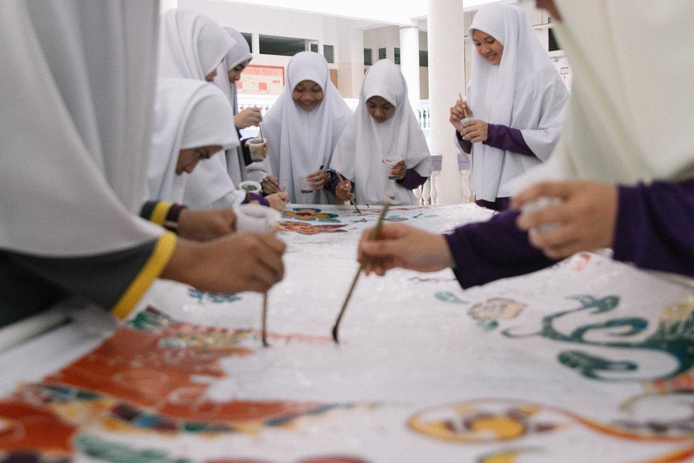 MYF X Madrasah Wak Tanjung: Batik Programme.
