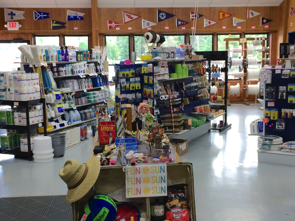 Ship Store - Open Year Round!Largest in Chequamegon Bay Area91 Octane (no ethanol) Gasoline & Diesel FuelWater & Pump OutEverything A Boater Needs at Competitive Prices