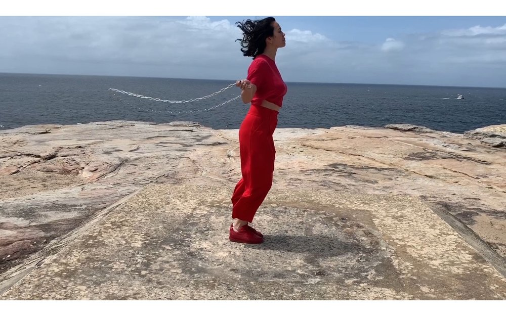 Amrita Hepi, The Pace, 2018, Single Channel video installation. Co-commissioned by Cement Fondu, for The Ropes, Amrita Hepi X Adrian Piper; and The Lock Up