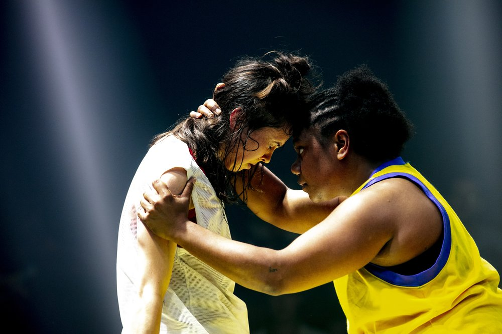 Image includes  Lauren Langlois  and Ghenoa Gela- Image by Brett Boardman