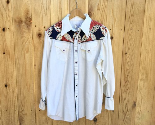 Vintage 1970's H Bar C Quilted Western Shirt 32FQj6