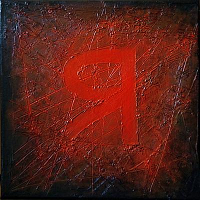 Yod, I, 2009, canvas, acrylic, 40 x 40 cm
