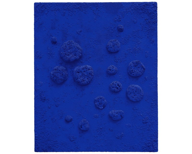 'L'accord bleu [Blue chord]' by the artist Yves Klein, 1960