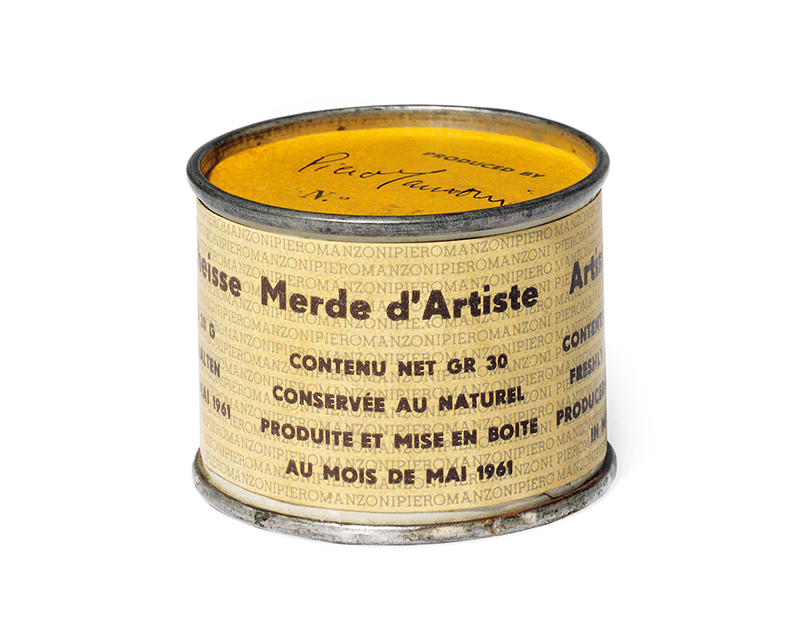 'Merda d'artista [Artist's Shit]' by the artist Piero Manzoni, 1961
