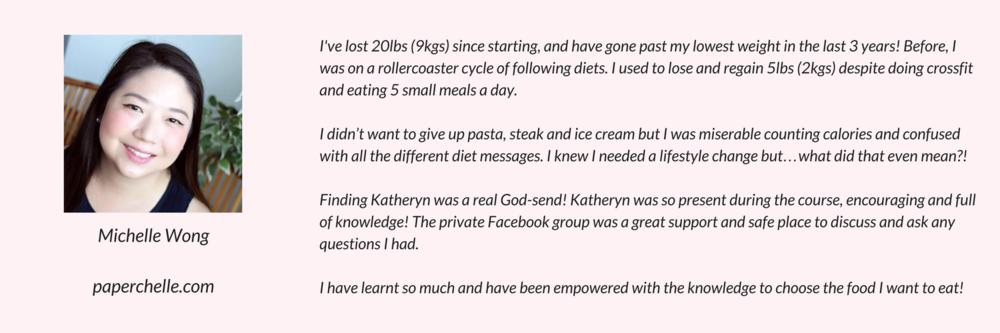 Michelle's Testimonial