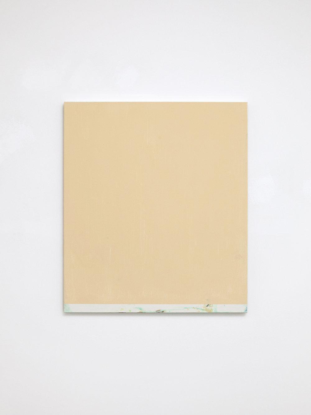 Untitled, 2018 Matt emulsion, acrylic and pigment on laminated chipboard  38 x 33 cm