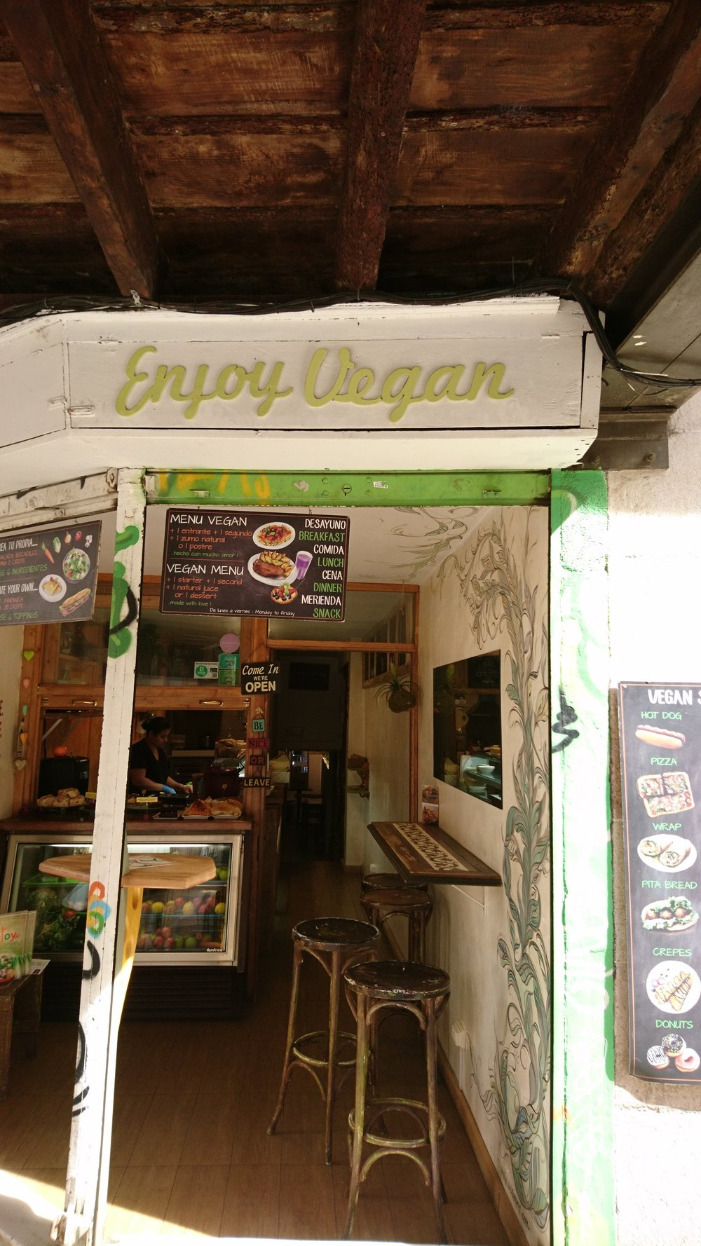 Enjoy Vegan Entrance