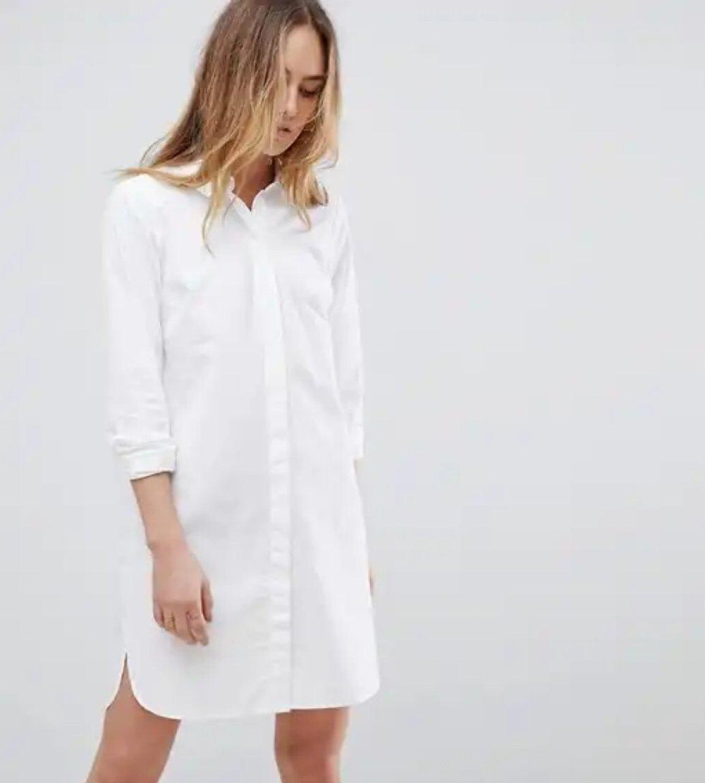 e06732571 Asos White Silk Shirt Dress | Top Mode Depot