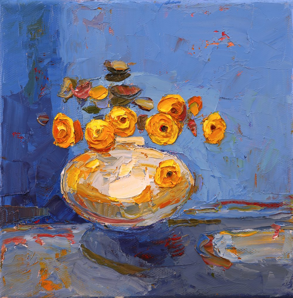Title: Butter Wouldn't Melt Size: 8 x 8 inches Medium: Oil on Canvas Price: SOLD
