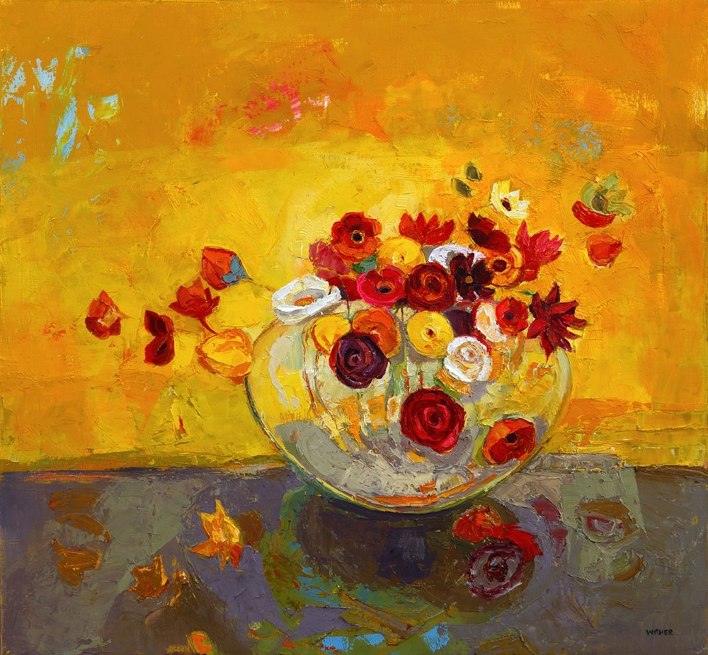 Title: Golden Flourish Size: 22 x 24 inches Medium: Oil on Canvas Price: SOLD