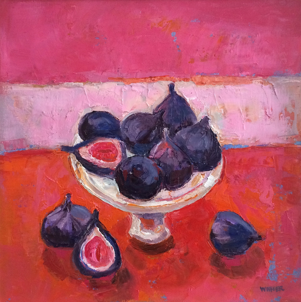 Title: Nine Lush Figs Size: 12 x 12 inches Medium: Oil on Canvas Price: £1700