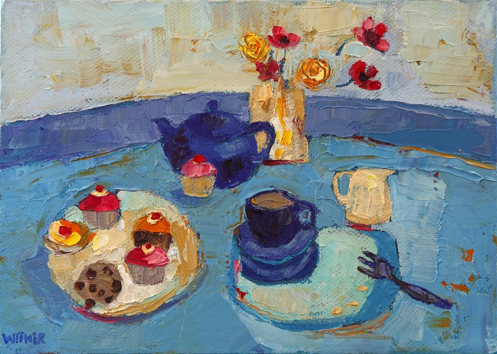 Title: Time for Tea Size: 5 x 7 inches Medium: Oil on Canvas Price: £525
