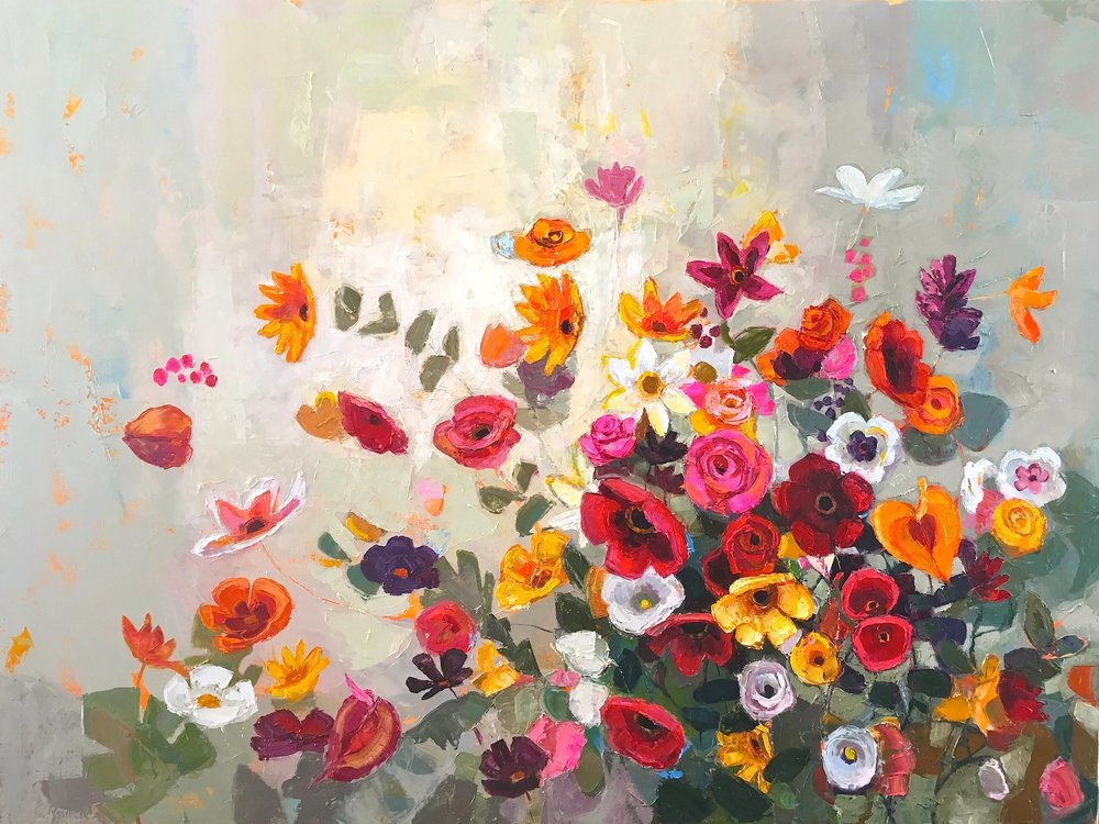 Title: Burst of Exuberance Size: 30 x 40 inches Medium: Oil on Canvas Price: £5450