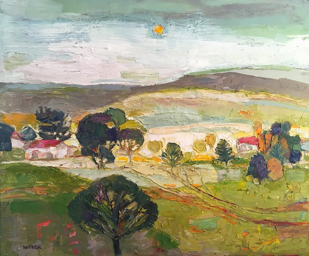 Title: Little Hamlet Size: 10 x 12 inches Medium: Oil on Canvas Price: £1500