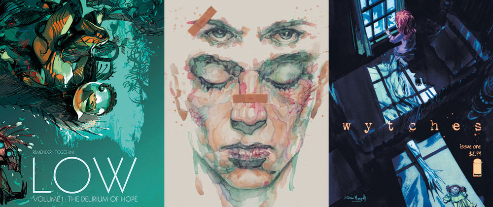 Low (Image Comics), Fight Club 2 (Dark Horse Comics) and Wytches (Image Comics)